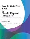 People State New York V Gerald Raphael