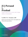 U Persaud V Prashad