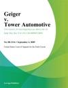 Geiger V Tower Automotive