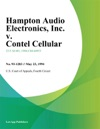 Hampton Audio Electronics Inc V Contel Cellular Inc