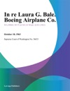 In Re Laura G Bale Boeing Airplane Co