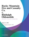 Rocky Mountain Fire And Casualty Co V Biddulph Oldsmobile