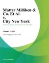 Matter Milliken  Co Et Al V City New York