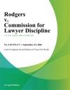 Rodgers V Commission For Lawyer Discipline