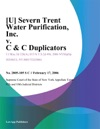 U Severn Trent Water Purification Inc V C  C Duplicators