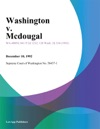 Washington V Mcdougal