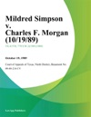 Mildred Simpson V Charles F Morgan