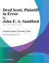 Dred Scott Plaintiff In Error V John F A Sandford