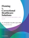 Fleming V Correctional Healthcare Solutions