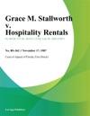 Grace M Stallworth V Hospitality Rentals