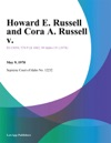 Howard E Russell And Cora A Russell V