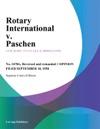 Rotary International V Paschen
