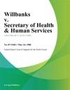 Willbanks V Secretary Of Health  Human Services