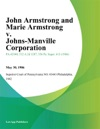 John Armstrong And Marie Armstrong V Johns-Manville Corporation