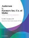 Anderson V Farmers Ins Co Of Idaho