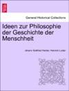 Ideen Zur Philosophie Der Geschichte Der Menschheit DRITTE AUFLAGE