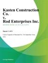 Kasten Construction Co V Rod Enterprises Inc