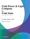 Utah Power  Light Company V Utah State