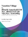 Vacation Village V Hitachi America