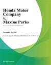 Honda Motor Company V Maxine Parks