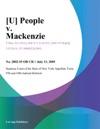 U People V Mackenzie