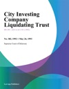 City Investing Company Liquidating Trust