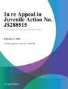 In Re Appeal In Juvenile Action No J-88515