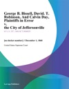 George B Bissell David T Robinson And Calvin Day Plaintiffs In Error V The City Of Jeffersonville