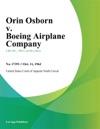 Orin Osborn V Boeing Airplane Company