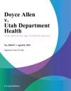 Doyce Allen V Utah Department Health