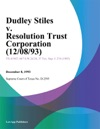 Dudley Stiles V Resolution Trust Corporation