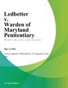 Ledbetter V Warden Of Maryland Penitentiary