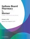 Indiana Board Pharmacy V Horner
