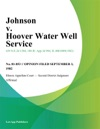 Johnson V Hoover Water Well Service