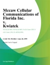 Mccaw Cellular Communications Of Florida Inc V Kwiatek