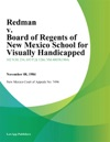Redman V Board Of Regents Of New Mexico School For Visually Handicapped