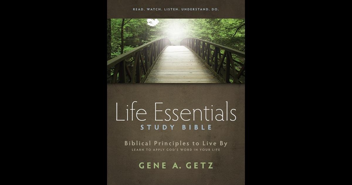HCSB Life Essentials Study Bible, Hardcover: Gene Getz Ph ...