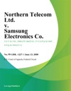 Northern Telecom Ltd V Samsung Electronics Co
