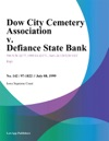 Dow City Cemetery Association V Defiance State Bank