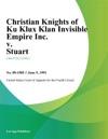 Christian Knights Of Ku Klux Klan Invisible Empire Inc V Stuart