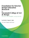 Foundation For Interior Design Education Research V Savannah College Of Art  Design