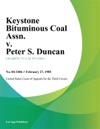 Keystone Bituminous Coal Assn V Peter S Duncan