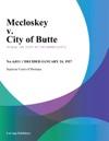 Mccloskey V City Of Butte