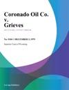 Coronado Oil Co V Grieves