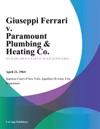 Giuseppi Ferrari V Paramount Plumbing  Heating Co