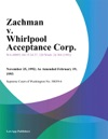 Zachman V Whirlpool Acceptance Corp