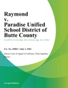 Raymond V Paradise Unified School District Of Butte County
