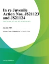 In Re Juvenile Action Nos J-1123 And J-1124