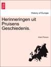 Herinneringen Uit Pruisens Geschiedenis
