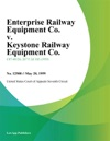 Enterprise Railway Equipment Co V Keystone Railway Equipment Co